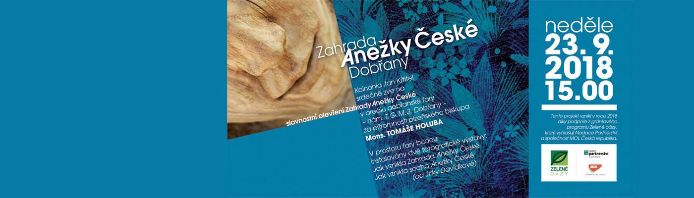 Slavnostní otevření Zahrady Anežky České